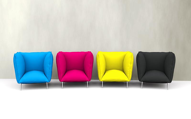 栄進堂印刷CMYKの椅子